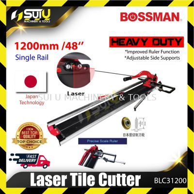BOSSMAN BLC31200 Manual Tile Cutter with Laser Professional Scoring Wheel with Single Rail 1200mm