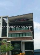 Osafe Fire inspection 3D led channel box up lettering signage at puchong Kuala Lumpur