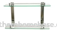 STAINLESS STEEL GLASS SHELF E11-2 Glass Shelf Bathroom