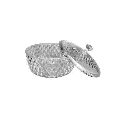 3535-A1 Crystal Bowl W/Cover