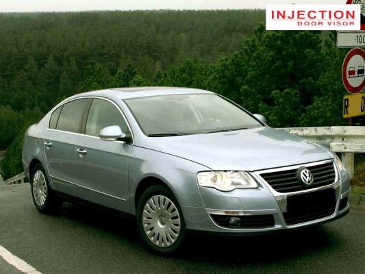 VOLKSWAGEN PASSAT (B6) 05Y-10Y = INJECTION DOOR VISOR WITH STAINLESS STEEL LINING