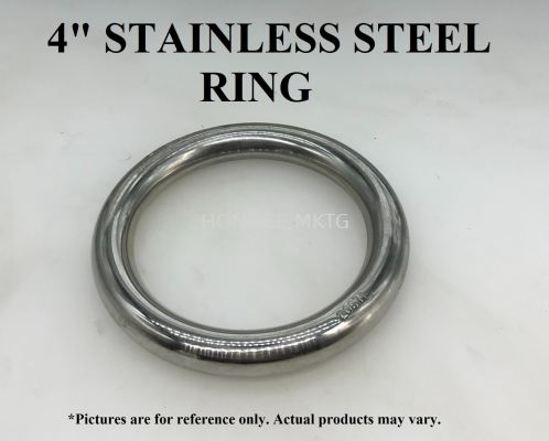 "4"" STAINLESS STEEL RING"