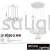 PENDANT LIGHT (LY9020-5RB-WH) Loft Design PENDANT LIGHT