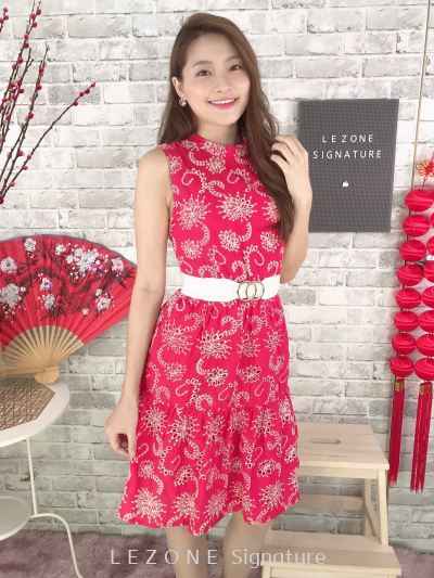 200091 Floral Sleeveless dress