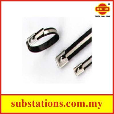 Semi Coated Stainless Steel Cable Ties Ball Lock Type