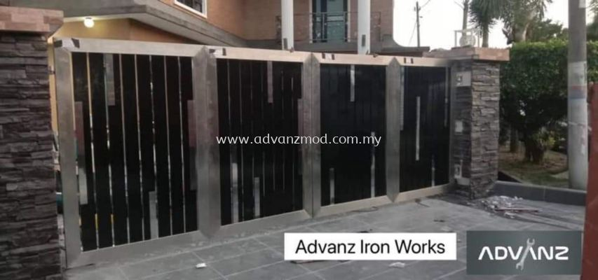 Stainless Steel Trackless Folding Gate