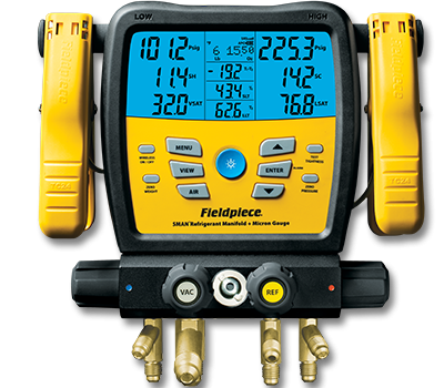 SM480V��Wireless 4-Port SMAN™ Refrigerant Manifold and Micron Gauge