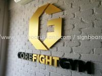 Corefight Gym 3D box up lettering siganage
