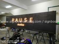 3d box up led channel frontlit lettering signage at Kuala Lumpur