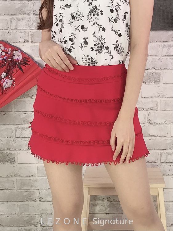 66353 Layered Laced Skirt