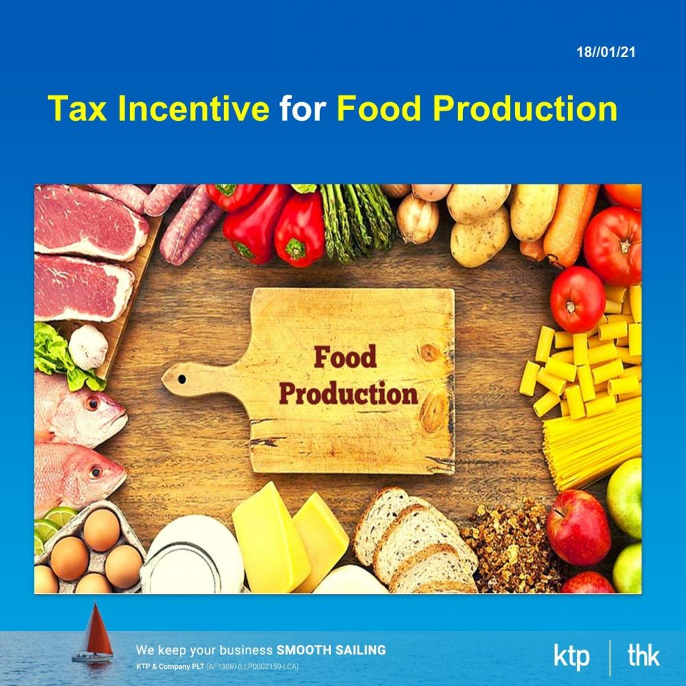 Tax incentive for food production
