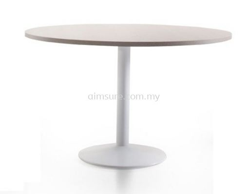 Round discussion table with white drum leg1
