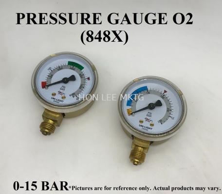 O2 PRESSURE GAUGE (848X)