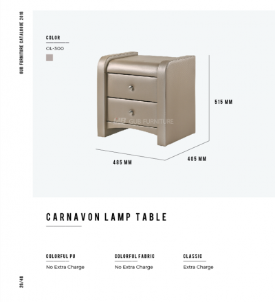 Carnavon lamp table