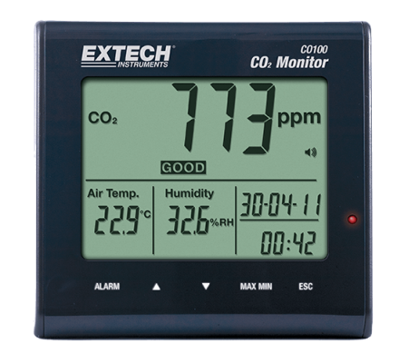Carbon Dioxide (CO2) Meters - Extech CO100