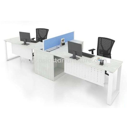 CLUSTER OF 2 OFFICE PARTITION WORKSTATION - Partition Workstation Banting   Partition Workstation Rawang   Partition Workstation Bandar Botanic   Partition Workstation Bandar Bukit Raja