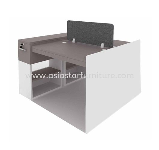 CLUSTER OF 2 OFFICE PARTITION WORKSTATION - Partition Workstation Gombak   Partition Workstation Batu Caves   Partition Workstation Kepong   Partition Workstation Serdang