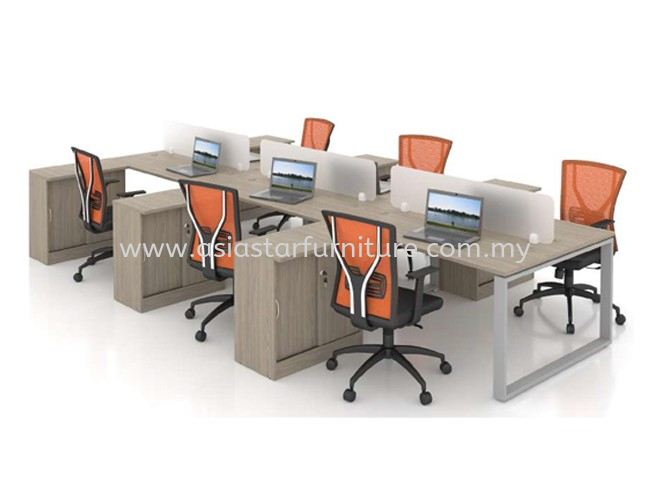 CLUSTER OF 6 OFFICE PARTITION WORKSTATION - Partition Workstation Brickfield   Partition Workstation Damansara Jaya   Partition Workstation Uptown PJ   Partition Workstation Pusat Bandar Damansara