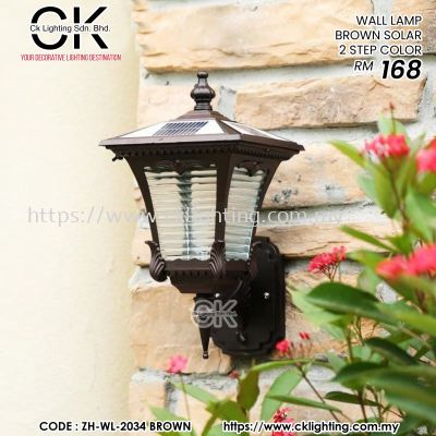 CK LIGHTING WALL LAMP BROWN SOLAR 2 STEP COLOR (ZH-WL-2034 BROWN LED)