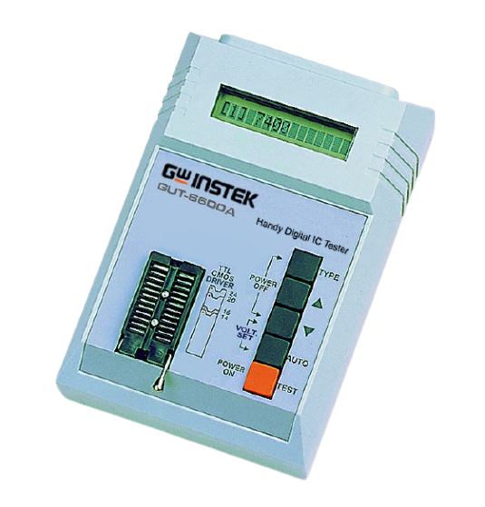 GW INSTEK GUT-6600A Handy Digital IC Tester