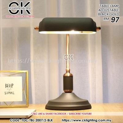 CK LIGHTING TABLE LAMP BLACK GOLD ADJUSTABLE (TBL-2007/2-BLK)