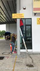 CUSTOMER NOT ALLOWED Safety Sign