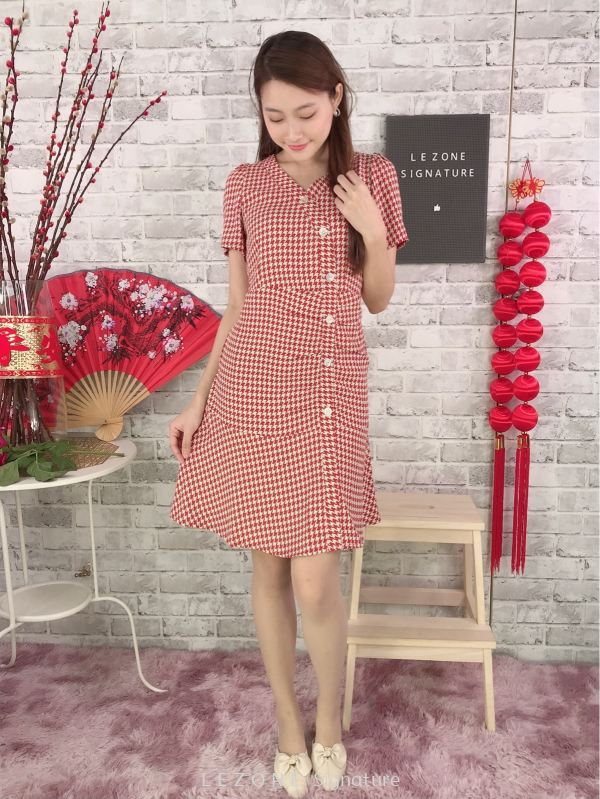 80837 Plus Size Button Down Sleeved Dress