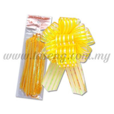 50mm Pull Flower Ribbon - Golden Yellow 1 Piece (RB-1PF50-GY)