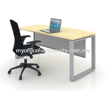 SD1890 Square Leg with D Shape Table 1800W x 900/750D x 750H mm (Maple)