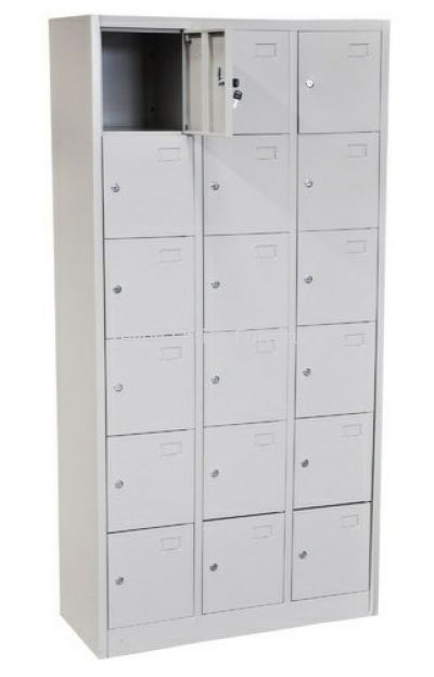 18 COMPARTEMNT STEEL LOCKER S 109/A