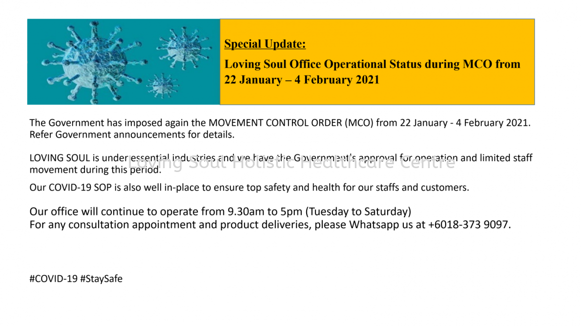 Special Update: Office Operational Status - MCO 2.0 (22 January - 4 February 2021)