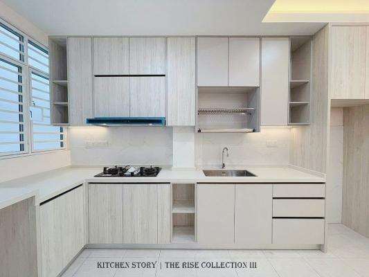 Melano Series Kitchen Cabinet c/w Quartz Stone
