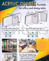 Arcylic divider for office and factory use  Acrylic Products/acrylic architecture laser cutting/acrylic box/name tag
