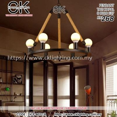 CK LIGHTING PENDANT TALI KAPAL 8 BULB E27 (ZH-P-8022/8)