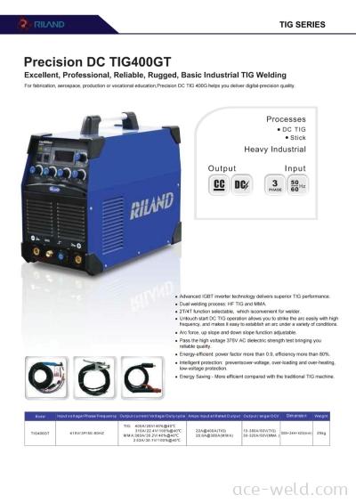 Riland Precision DC TIG 400GT