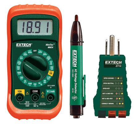 Electrical Test Kits - Extech MN24-KIT