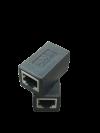 RJ45 PLUG TO PLUG SOCKET (METAL BLACK) ACCESSORIES NETWORK