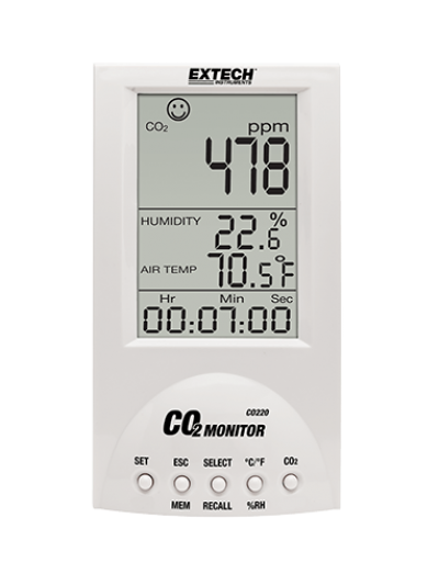 Carbon Dioxide (CO2) Meters - Extech CO220