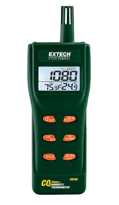 Carbon Dioxide (CO2) Meters -  Extech CO250