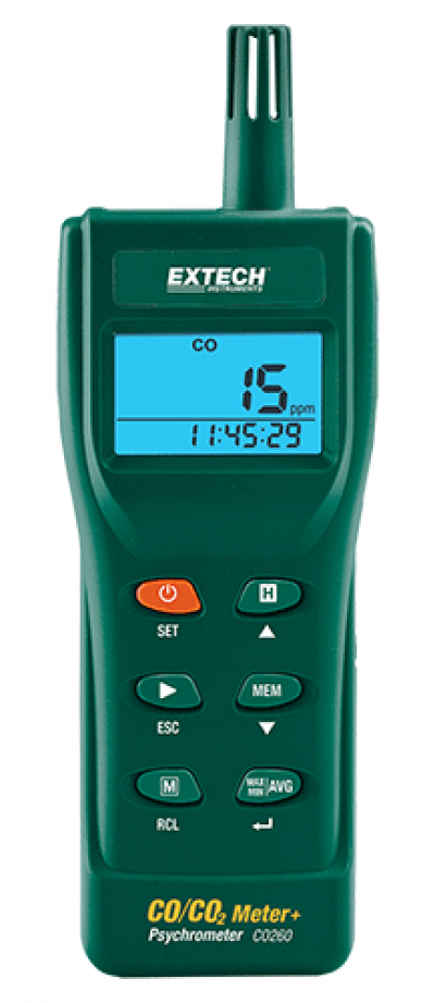 Carbon Dioxide (CO2) Meters - Extech CO260