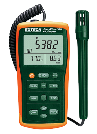 Carbon Dioxide (CO2) Meters - Extech EA80