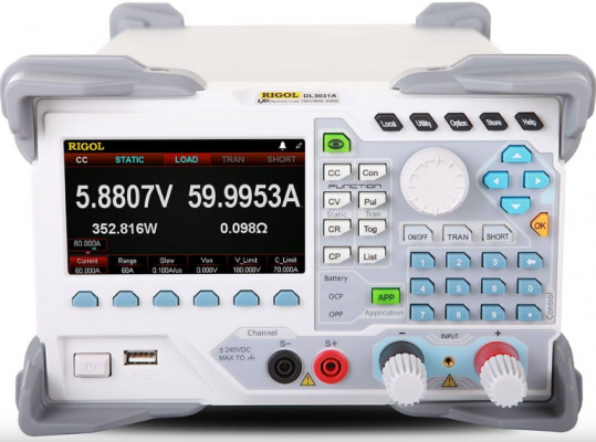 RIGOL DL3031A Programmable DC Electronic Load (Single Channel, 150V/60A/30kHz 350W) High Resolution