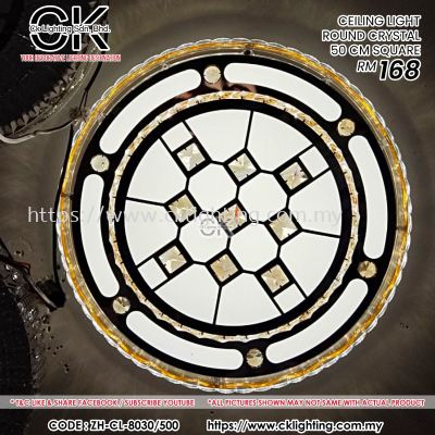 CK LIGHTING CEILING LIGHT ROUND CRYSTAL 50 CM SQUARE (CL-8030/500)