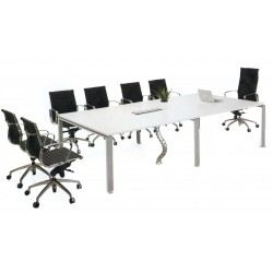 Rectangular conference table with Rumex leg PS socket n PVC snake
