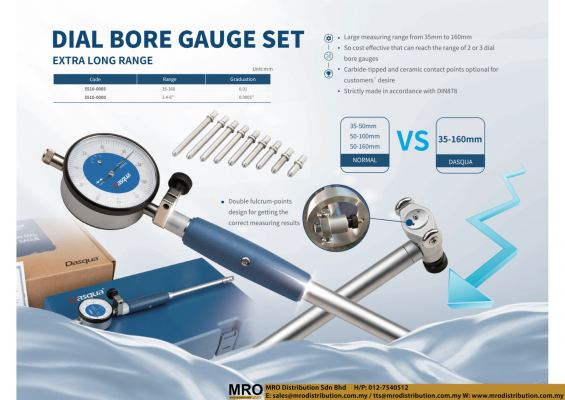 Dial Bore Gauge Set Extra Long Range