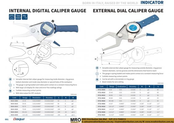 Internal Digital Caliper Gauge & External Dial Caliper Gauge