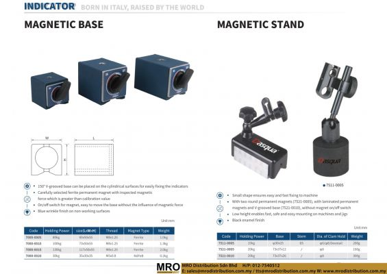 Magnetic Base & Magnetic Stand