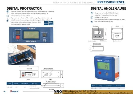 Digital Protractor & Digital Angle Gauge