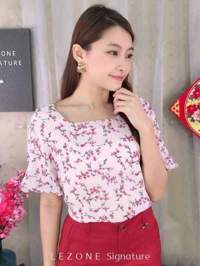 2099 Puff Sleeved Floral Top
