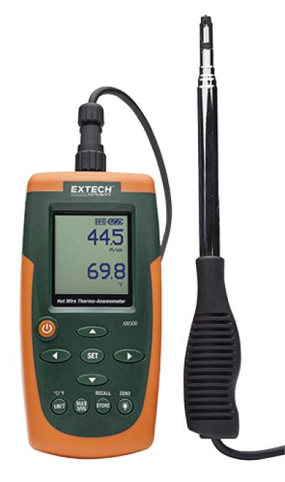 Hot Wire Air Flow Meters - Extech AN500